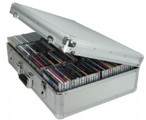 Silver Aluminium 120 Capacity Jewel Case Storage Box